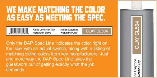 Color Match Database | DAP® Spec Line